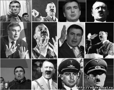 Карикатура на Саакашвили. Аналогии Саакашвили и Гитлера